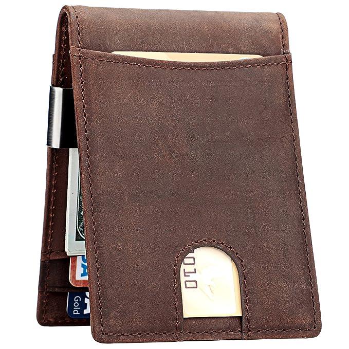 Money Clip Wallet for Men Slim Front Pocket RFID Blocking Card Holder  Minimalist Bifold Wallet( 6e4850cafd