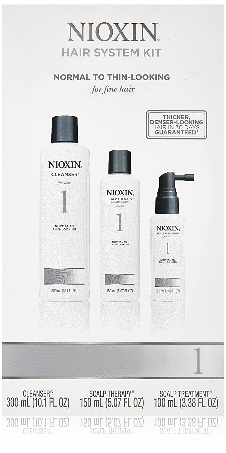 Nioxin System Fine Natural Normal-Thin Looking Hair-3-Count Kit