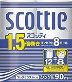 スコッティ 1.5倍巻き コンパクト トイレット8ロール 90mシングル