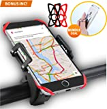 Bike Mount Bicycle Holder, PLUS GIFT Universal Mountain and Road Bicycle Handlebar Cradle Holder, 360 Degree Rotate for Easter, Compatible with Samsung, Galaxy, iPhone 7, 7 Plus, 6s Plus, 6, 6s, 5, etc.