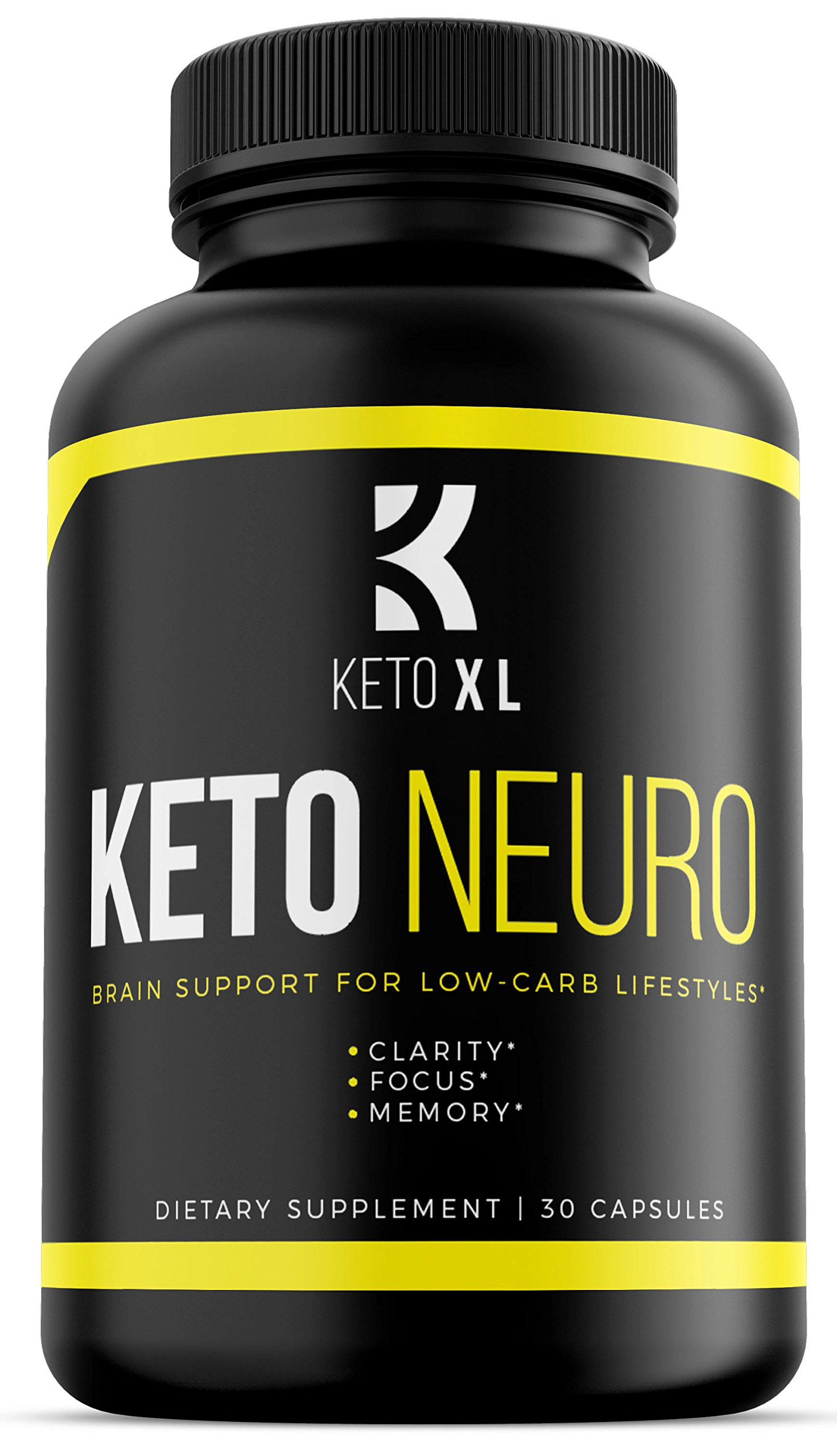 Keto Neuro | Brain Support Nootropic Supplement for Keto Diet and Low Carb Lifestyles | Memory, Focus, Clarity | Boost Energy, Mental Performance | Bacopa Monnieri, DMAE, Rhodiola Rosea, Ginkgo Biloba