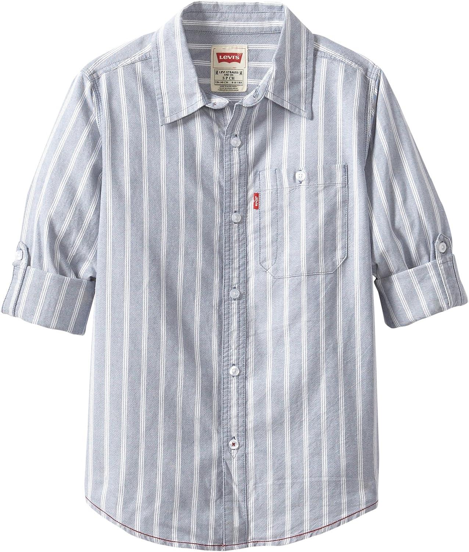 Levis Long Sleeve One Pocket Shirt Camisa con Cuello Abotonado para Niños: Amazon.es: Ropa y accesorios