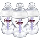 Tommee Tippee Closer to Nature Anti-Colic Bottles, 9 Ounce, 3 Count (Packaging may vary)