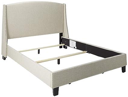 743dd8f6e2cd2 Amazon.com  Pulaski Queen Shelter Back Upholstered Bed