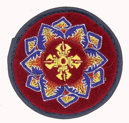 Amazon.com: Tibetano terciopelo bordado pequeño cojín para ...