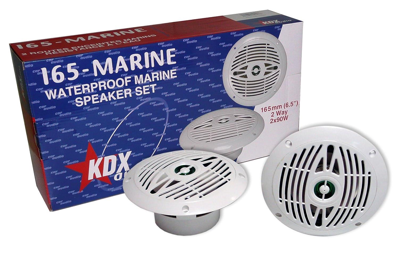KDX-Audio 165-Marine - Juego de Altavoces para embarcaciones, Color Blanco New Radiovox 2706