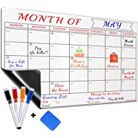 Large Magnetic Dry Erase Refrigerator Calendar by ADA OFFICE, Calendar Whiteboard Monthly Planner - 4 Fine Tip Markers…