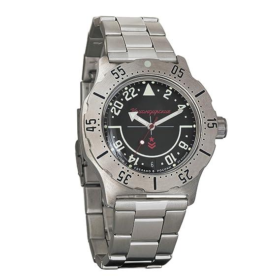 Vostok Komandirskie K-35 Ruso Reloj Militar Negro 2431/350617: Amazon.es: Relojes