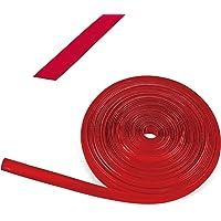 Rouleau de 10m de bande en plastique rouge pour rails de caravane et camping-car, 12 mm de large