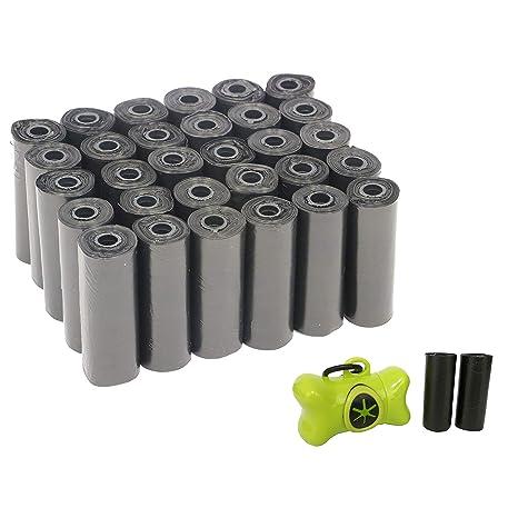 Yommy® Bolsas para excrementos de Perro con dispensador y Clip para Correa (80+2 Rollos, 1200+30 Bolsas)