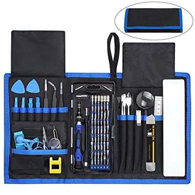 84 in 1 Repair Tools Kit with Magnetic Driver Kit, Apsung Professional Electronics Precision Screwdriver Set with Portable Bag for Repair Computer, Cell Phone, PC, iPhone, MacBook, Laptop etc: Home Improvement