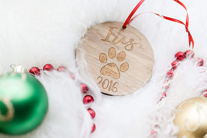 personalized first christmas pet name ornament for pets cat or dog mom gift offered - Christmas Pet Names