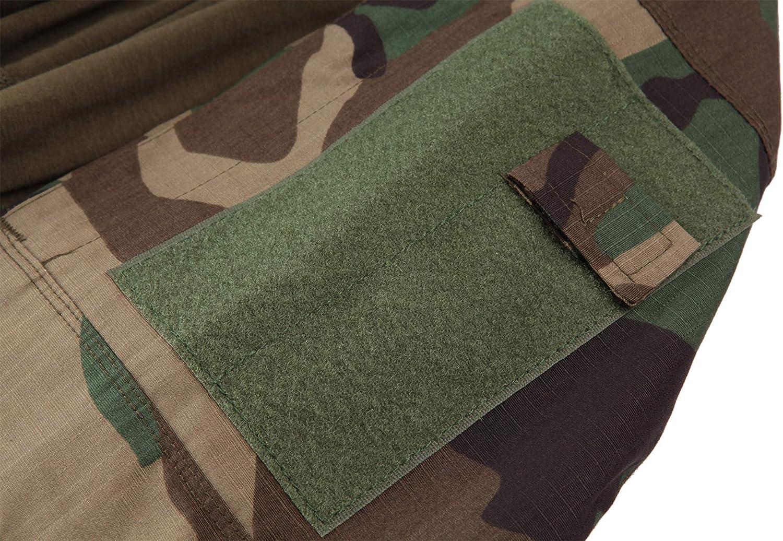 MAGCOMSEN T-shirt tactique militaire /à manches longues avec poches /à fermeture /éclair pour homme