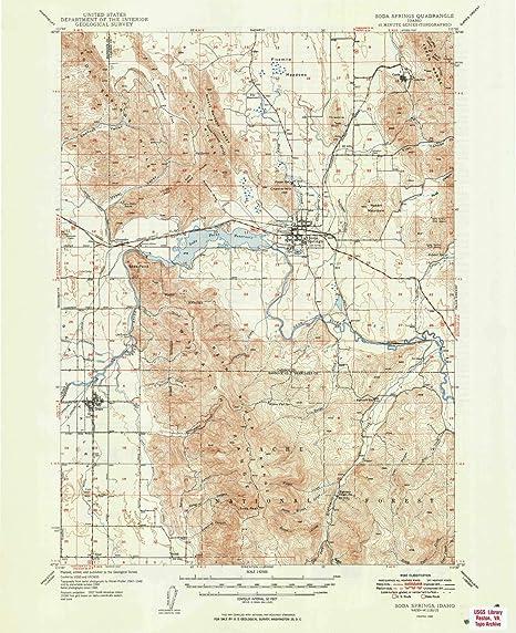Amazon Com Yellowmaps Soda Springs Id Topo Map 1 62500 Scale 15