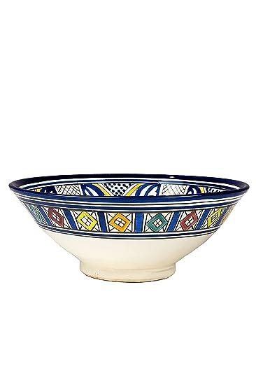 Orientalische Keramikschale Keramikteller Rund Amsah O 30cm Gross