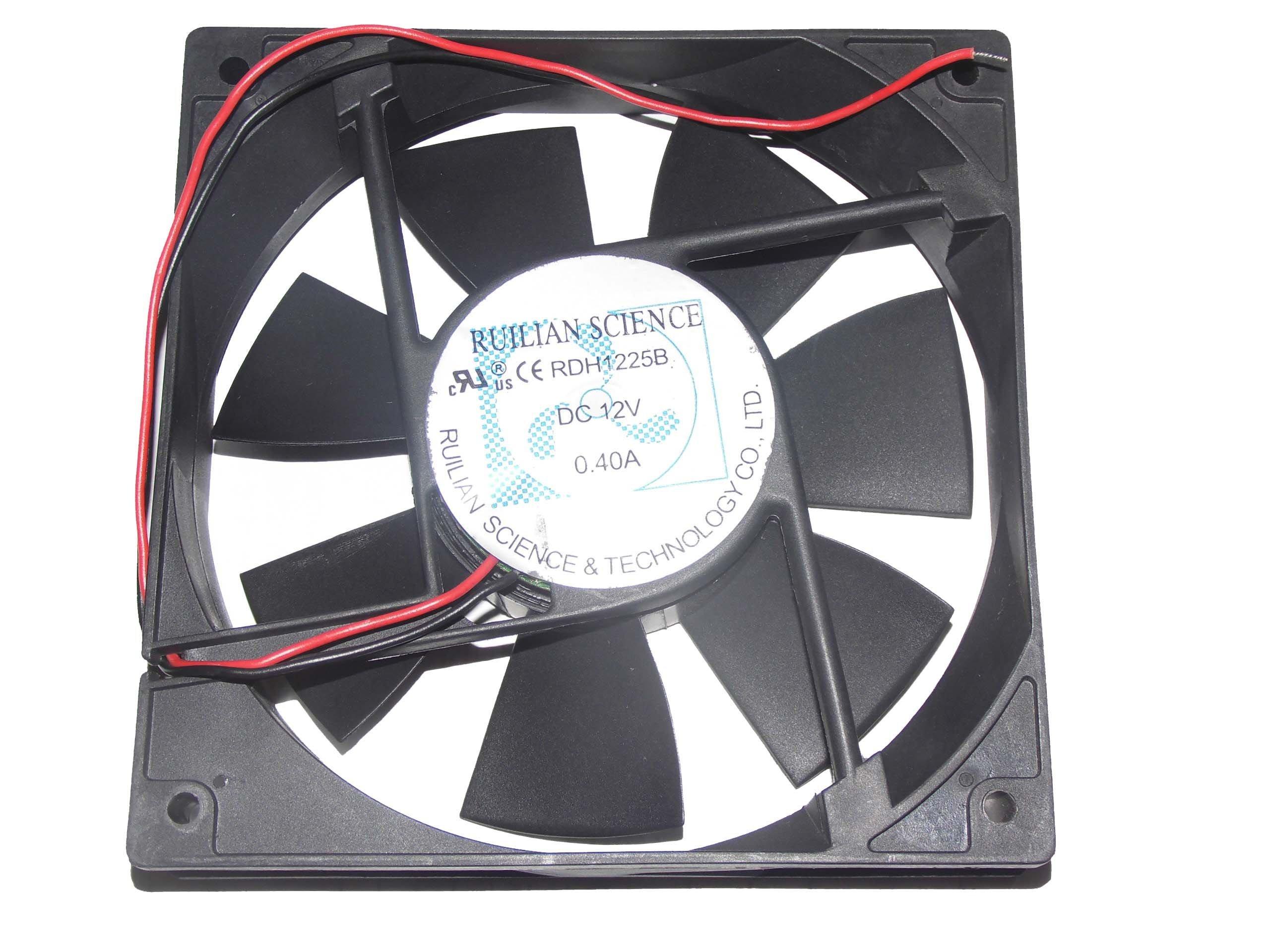 120x120x25mm RDH1225B 12V 0.40A 2Wire 12cm Case Fan by Zyvpee