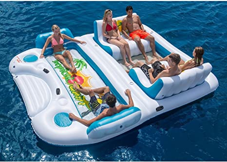 Nueva 6 Persona Inflable Flotador Balsa Piscina océano Tropical de ...