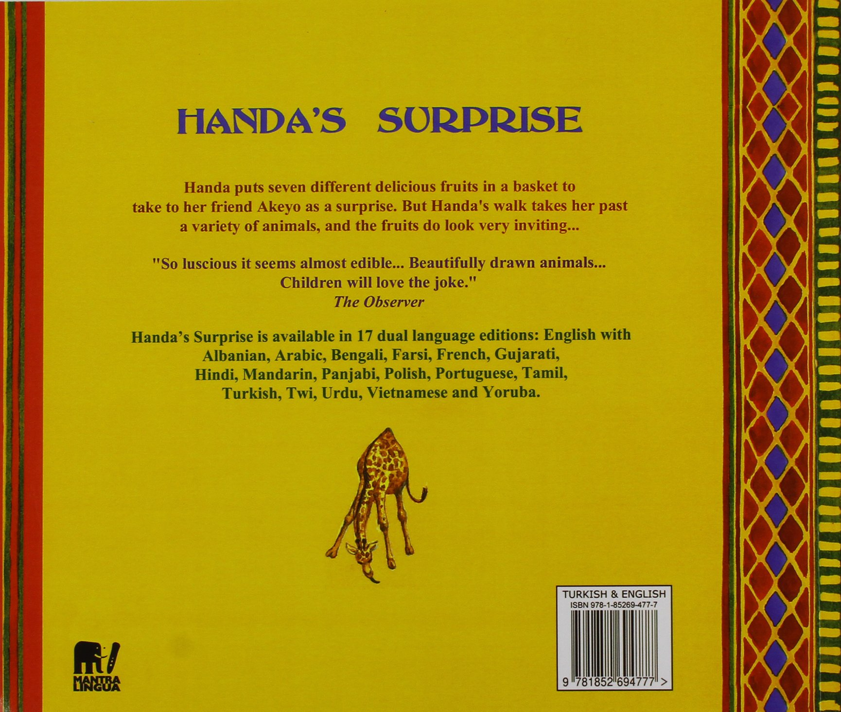 Buy Handa's Surprise in Turkish and English Book Online at