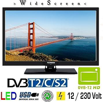 Telefunken l22 F272 K4 V LED TV de 22 Pulgadas 55 cm TV DVB-S/S2, DVB-T2, DVB-C, USB, Clase de eficiencia energética A +, 230 V/12 V: Amazon.es: Electrónica