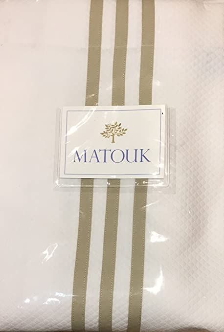 Matouk Newport Shower Curtain Diamond Pique