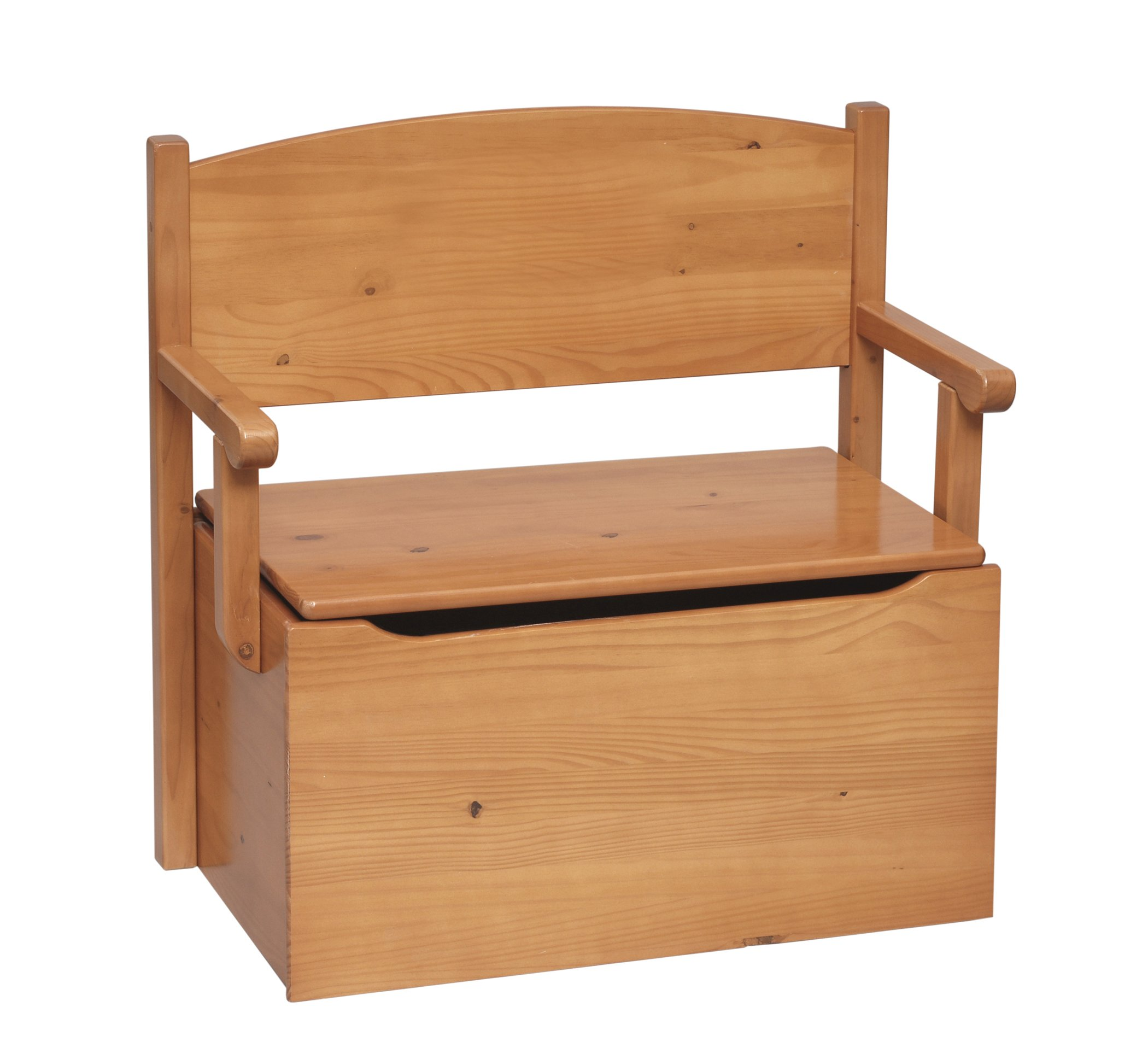 Little Colorado Bench Toy Box- Honey Oak