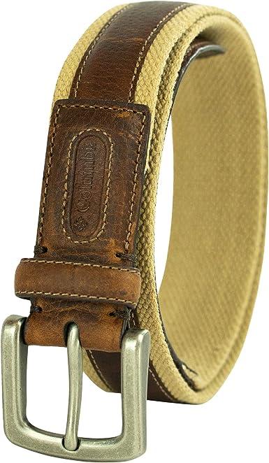 Columbia hombre 35 mm cinturón de algodón lavado: Amazon.es: Ropa ...