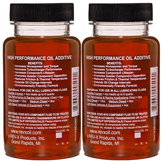 Amazon.com: REV-X Super Ultimate Kit for Diesel - 4oz High Performance Oil Additive (2) + 8oz Ultimate Fuel Treatment (2): Automotive