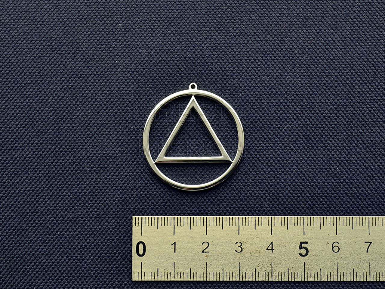 Alcoholic Anonymous Necklace Stainless Steel Jewelry Eminem Pendant Triangle Keychain AA Merch Recovery Logo Fire Symbol Emblem Amulet Talisman