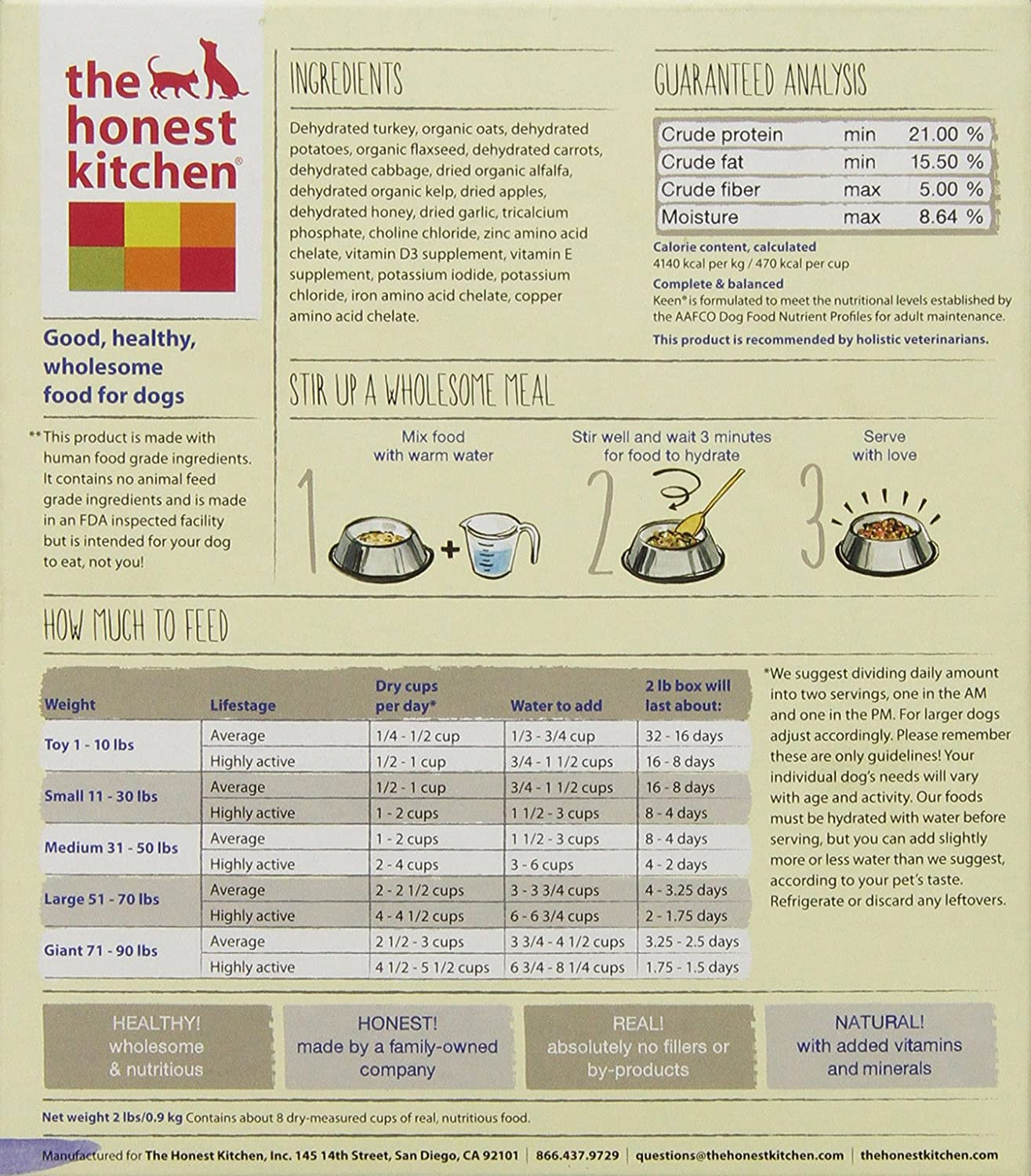 the honest kitchen keen organic whole grain dog food natural