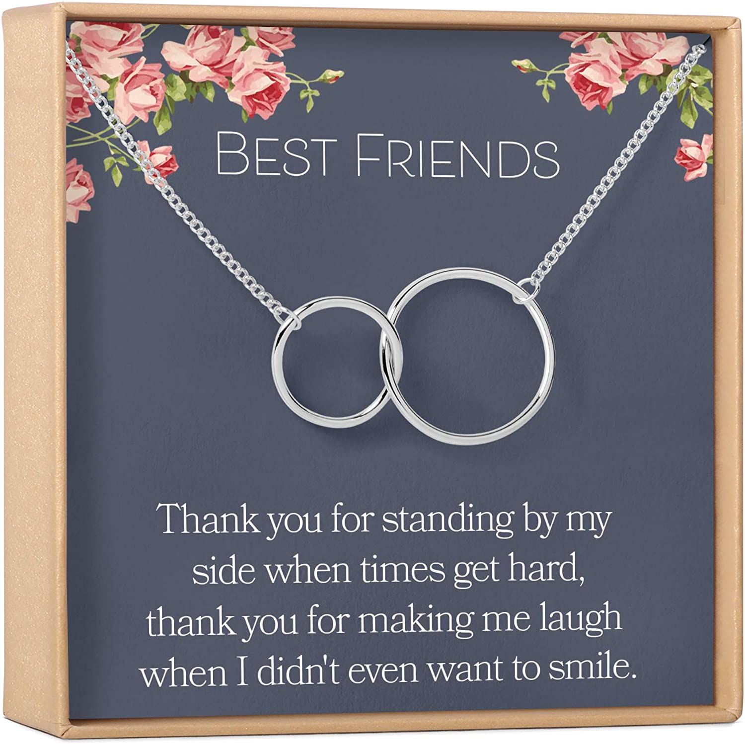 Forever Friends Necklace #A320 Sterling Silver Forever Friends Charm Necklace Forever Friends Necklace Forever Friends Pendant Necklace