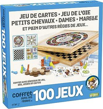 France Cartes – 527600 – Caja de Madera 100 Juegos: Amazon.es ...