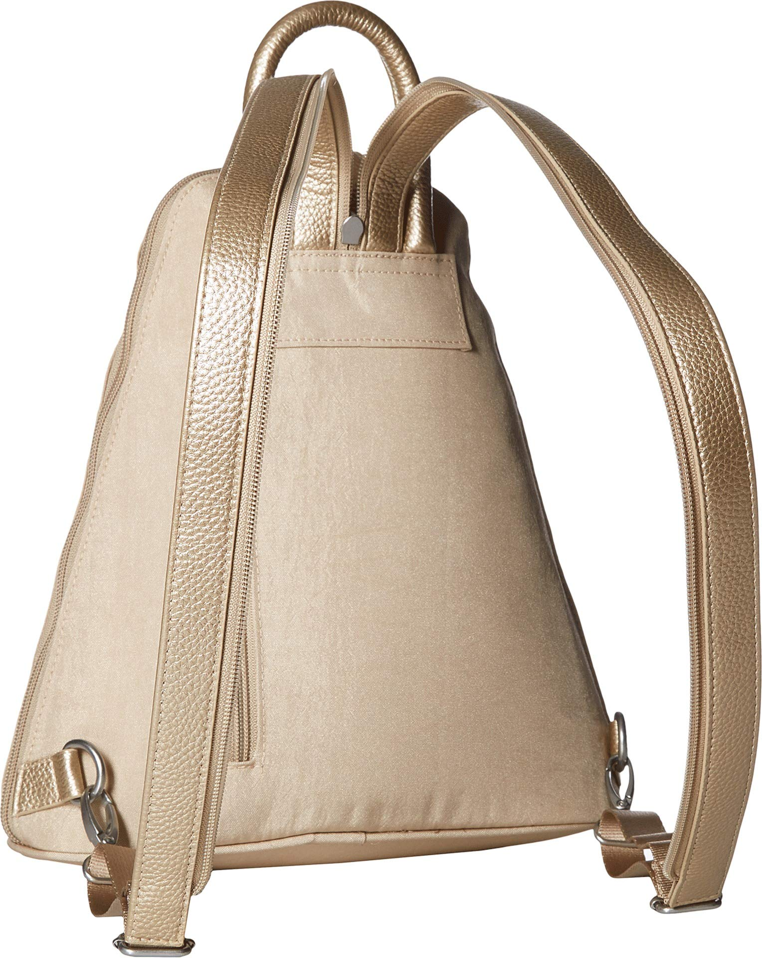 Baggallini Women's Metro Backpack with RFID Phone Wristlet Champagne Shimmer One Size by Baggallini (Image #2)