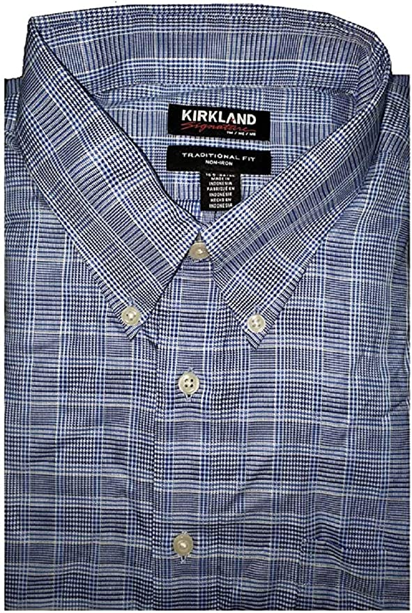 Amazon.com: Kirkland Signature - Camisa de vestir para hombre (100% algodón): Clothing