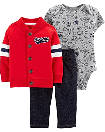 738644f51 Amazon.com  Carter s Baby Boys  Cardigan Sets 121h271  Clothing