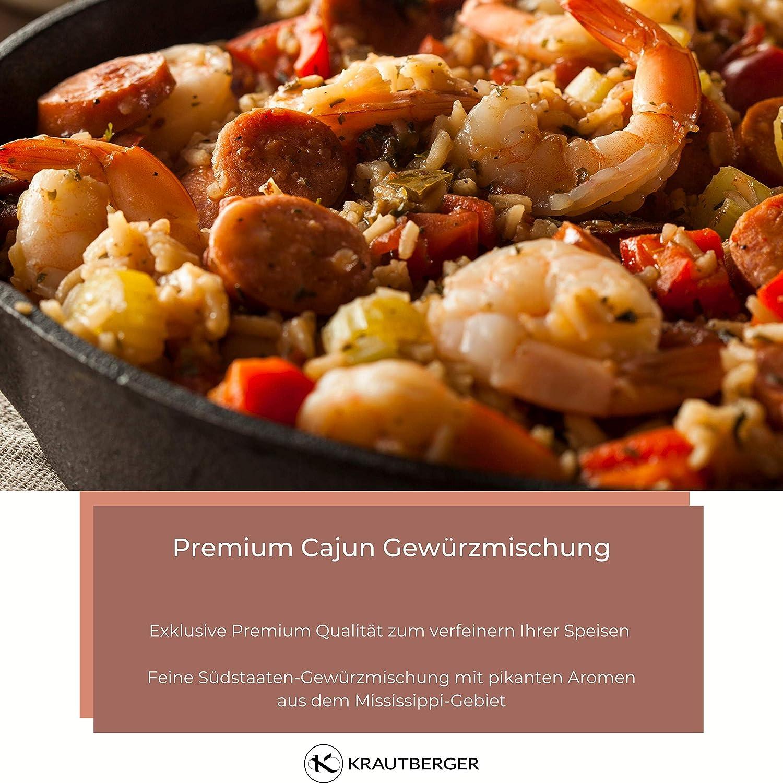 Cajun spice molido 100g | Mezcla de especias calientes para Jambalaya & Gumbo | Especialidad de especias de Cajun cocina USA condimento de especias: Amazon.es: Alimentación y bebidas