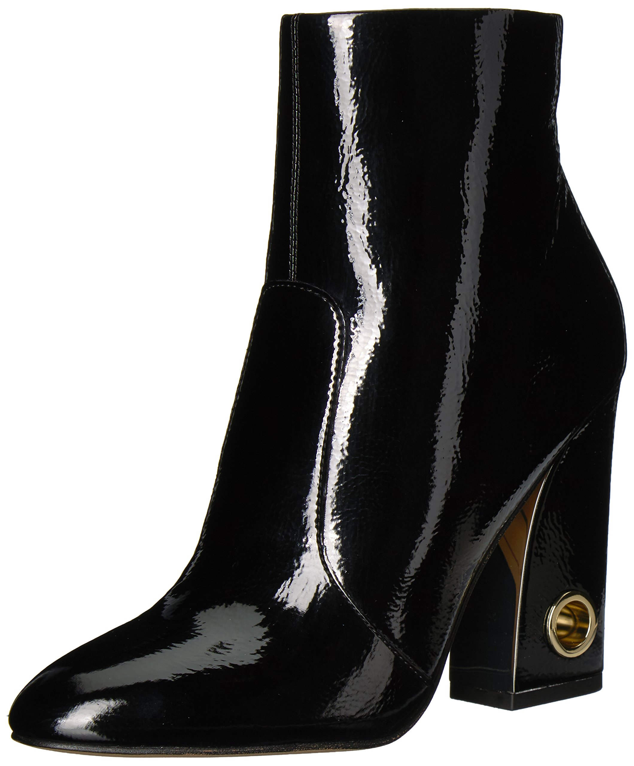 Dolce Vita Women's Valley Ankle Boot, Black Patent Stella, 6.5 M US