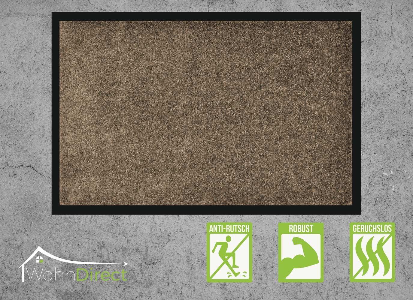 WohnDirect Paillasson pour Porte dentr/ée Couloir Gris avec Bordure 40x60 cm