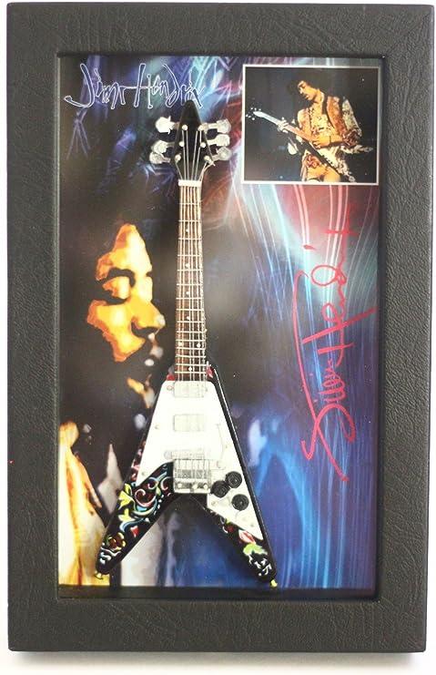 RGM8807 Jimi Hendrix Colección de Guitarra en Miniatura en Marco ...