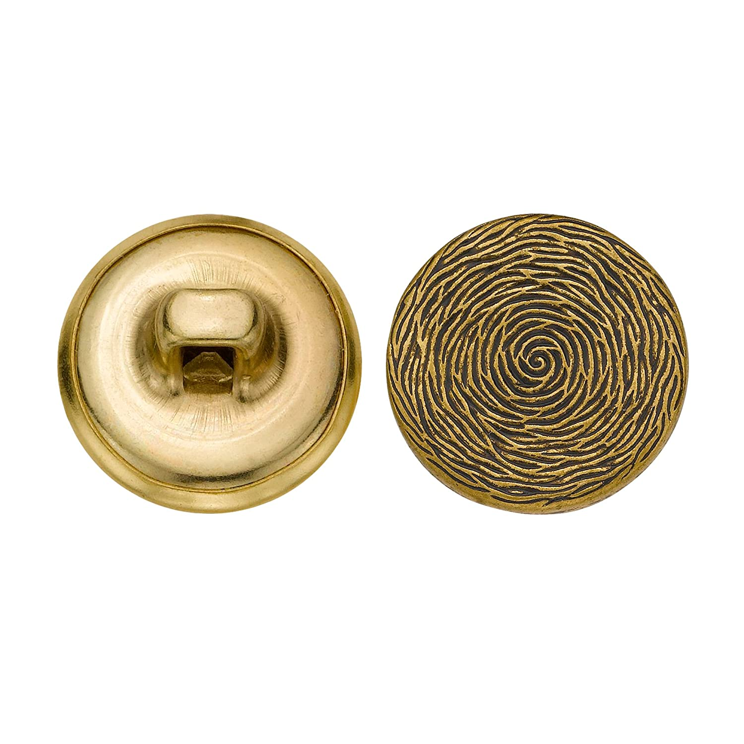 Antique Gold C/&C Metal Products 5261 Tree Rings Metal Button Size 24 Ligne 72-Pack C/&C Metal Products Corp