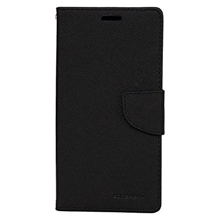 Avzax Luxury Magnetic Lock Diary Wallet Style Flip Cover Case for Moto X Force   Black Cases   Covers