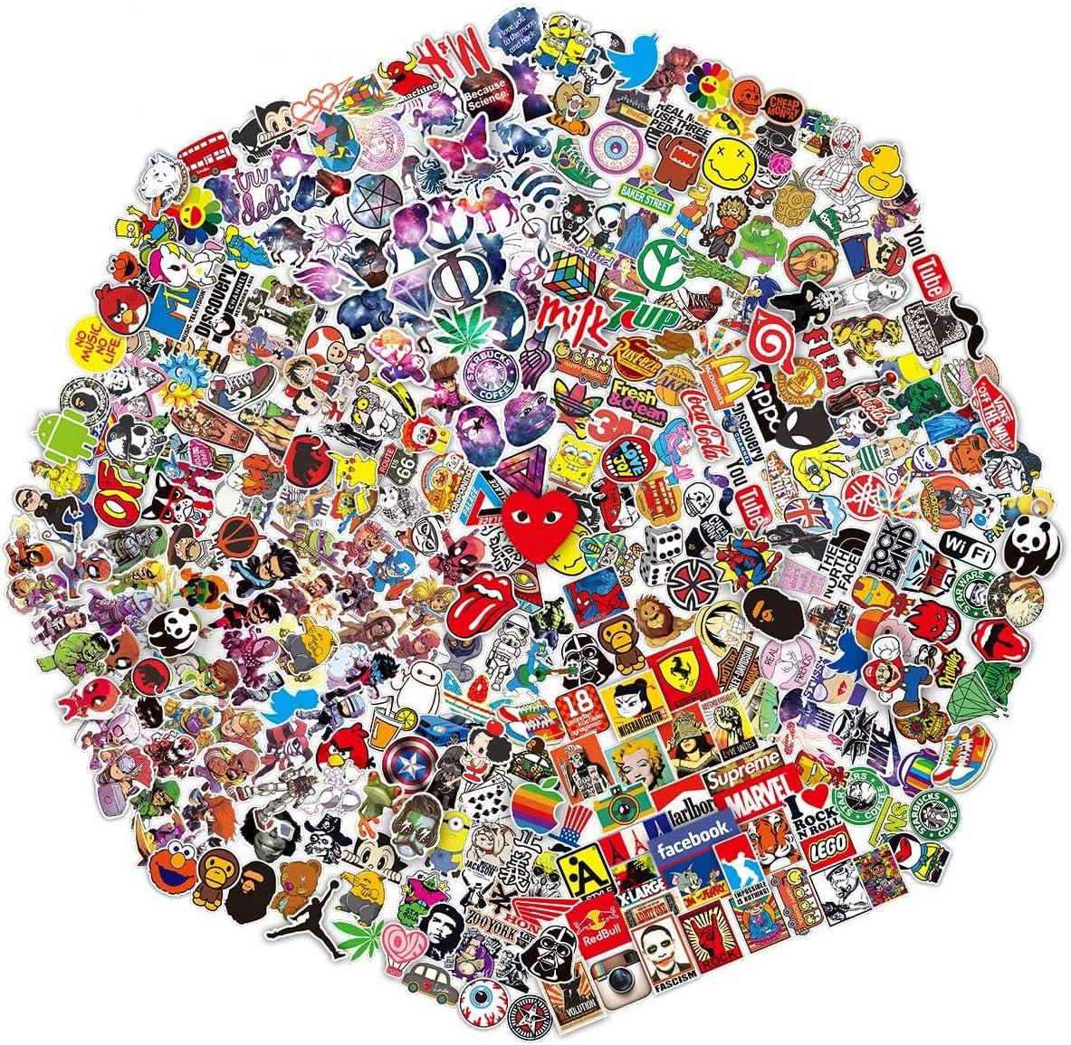 M/ädchen Kinder Aethetic Aufkleber Vinyl wasserdicht Jungen Aufkleber 35 PCS Cute VSCO Aufkleber f/ür Laptop T/ür Belohnung Sticker f/ür Kinder Wasserflasche Telefon Pad Auto Skateboard blauer