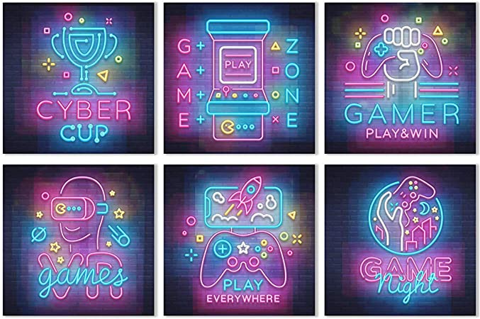 Gc Gamer Wall Art Gifts Set Of 6 Posters For Wall Decor 11x11 Poster Special For Video Game Lovers Great Gaming Room Accessories Ideal Gift For Gamers Amazon Ca Generic