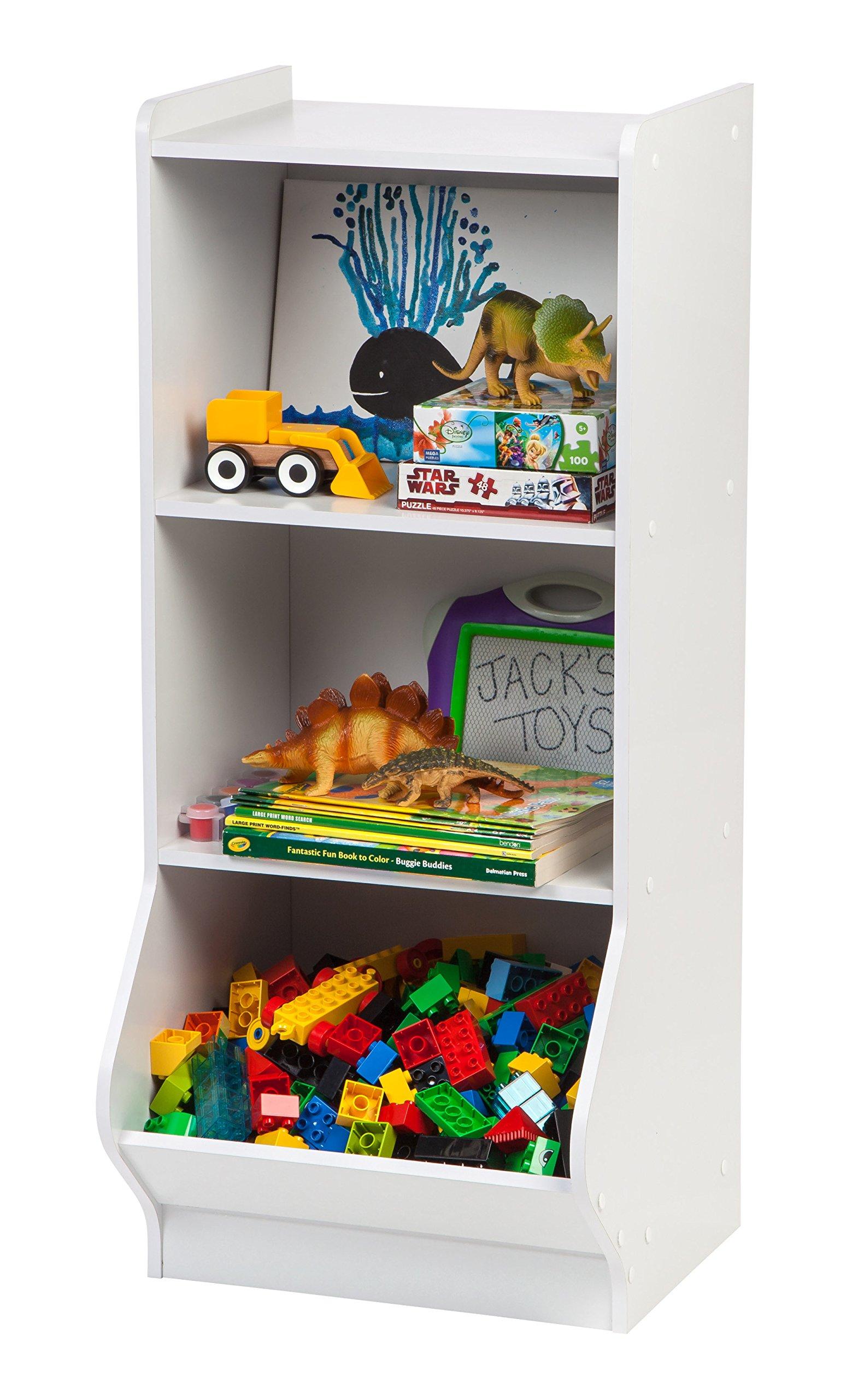 IRIS 3-Tier Storage Organizer Shelf with Footboard, White by IRIS USA, Inc. (Image #2)