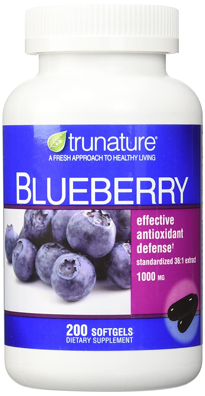 Trunature Blueberry Standardized Extract 1000 Mg - 200 Softgels by TruNature B003PM8610