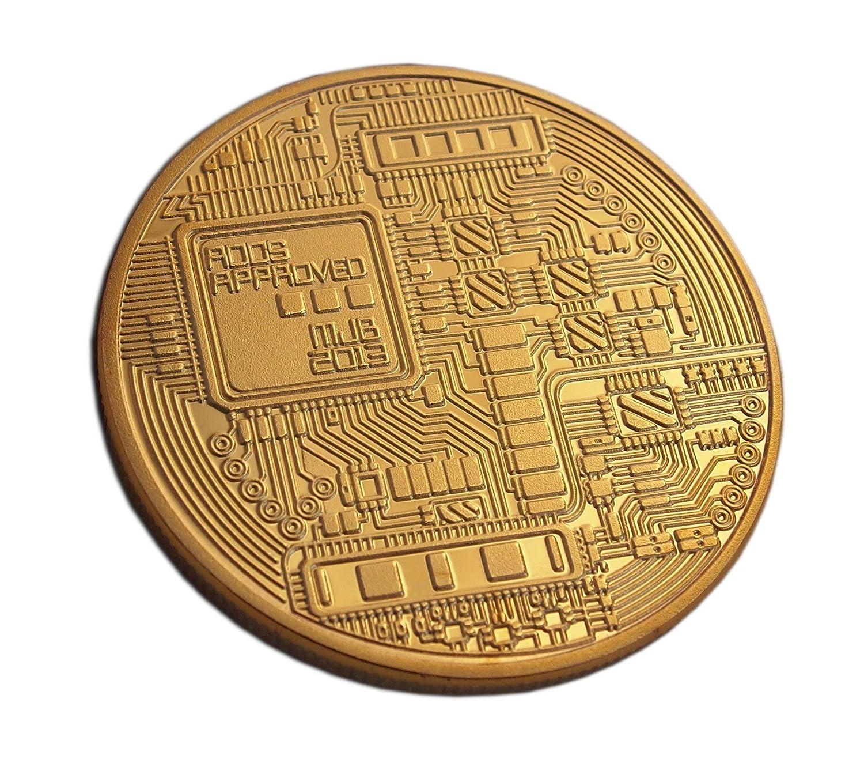 Rare chapado en oro Bitcoin moneda conmemorativa de la ...