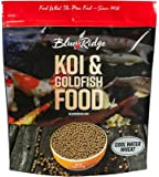 "Blue Ridge Fish Food Pellets, Koi and Goldfish Cool Water Wheat Formula, Floating 3/16"" Pellet, Balanced Diet"