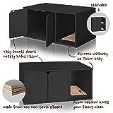 Way Basics Modern Cat Litter Box Enclosure, Black