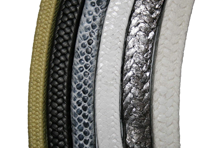 Sterling Seal /& Supply 1 Cut Length 165LA-V.125 Black SSS165LA.125x1-V Expanded Flexible Graphite Filled PTFE Braided Packing 1//8 Cross Section Inc. SSS165LA.125x1-V Expanded Flexible Graphite Filled PTFE Braided Packing 1//8 Cross Section