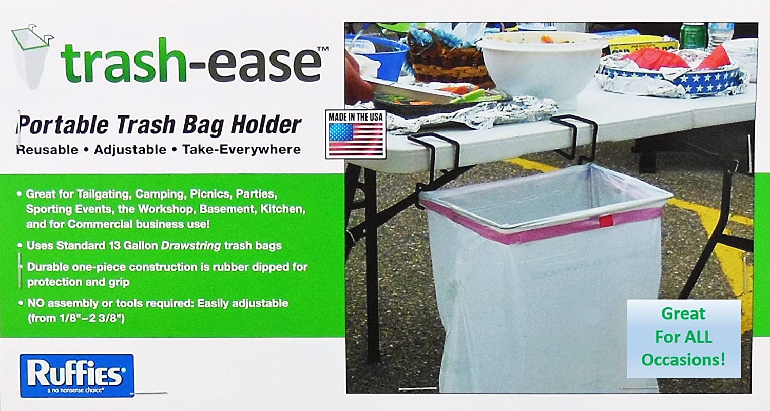 Amazon.com: Trash Ease 13 Gallon Portable Trash Bag Holder: Home U0026 Kitchen