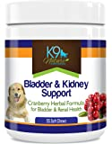 Bladder & Kidney Support for Dogs Natural Cranberry Supplement for Urinary Strength & Renal Health 55 Soft Chews
